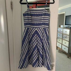 Vineyard Vines white blue dress with straps
